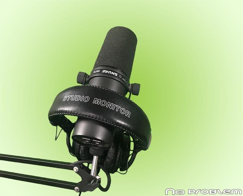 Mikrofon studyjny używany do prowadzenia zajęć online